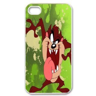 Mystic Zone Customized Taz iPhone 4 Case for iPhone 4/4S Hard Cover cool Cartoon Fits Case KEK0042: Cell Phones & Accessories