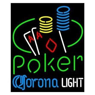 """Corona Light Poker Ace Coin Table Beer Bar Pub Handcrafted Real Glass Tube Neon Light Sign 24"""" X 24"""" the Best Offer   Wall Porch Lights"""