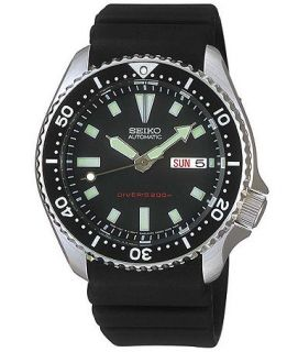 Seiko Watch, Mens Automatic Black Polyurethane Strap 40mm SKX173   Watches   Jewelry & Watches