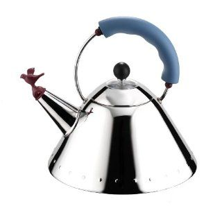Alessi Michael Graves Kettle with Bird Whistle, Blue Handle: All Clad Tea Kettle: Kitchen & Dining