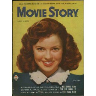 Movie Story Magazine March 1949 (Shirley Temple cover & feature) (Vol. 26, No. 179): Shirley Temple, Ronald Reagan, Lassie, William Bendix, Lionel Barrymore, Ronnie Lodge: Books