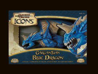 D&D Dungeons and Dragons Trading Miniatures Game Icons Gargantuan Blue Dragon Toys & Games