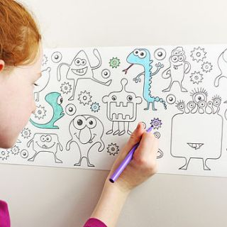 junior monster design colour in border by funwall