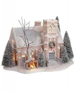 Department 56 Winter Frost Village Holy Night Church Collectible Figurine   Holiday Lane