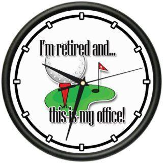 RETIRED 1 Wall Clock retiree retirement senior citizen work free old man gift