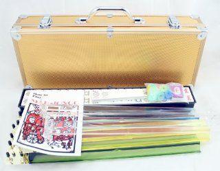 4 Pushers + Brand New Complete American Mahjong Set in Gold Case, 166 Tiles (mah Jong Mah Jongg Mahjongg) Toys & Games