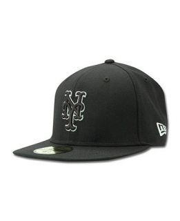 New Era Kids New York Mets MLB Black and White Fashion 59FIFTY Cap   Sports Fan Shop By Lids   Men