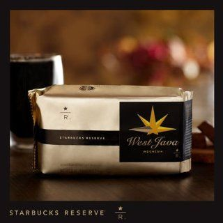 Starbucks Reserve WEST JAVA Indonesia Coffee   8 Oz. Whole Bean : Coffee Substitutes : Grocery & Gourmet Food