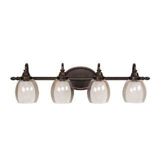 allen + roth 4 Light Bronze Bathroom Vanity Light   Vanity Lighting Fixtures