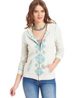 Lucky Brand Jeans Fleece Embroidered Hoodie   Jackets & Blazers   Women