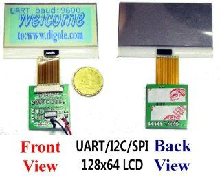 Serial:UART/IIC/I2C/SPI 128x64 12864 Slim Graphic LCD Module for Arduino/PIC/AVR: Electronics