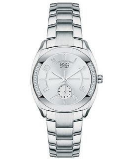 ESQ Movado Watch, Womens Swiss Origin Diamond Accent Stainless Steel Bracelet 28mm 7101424   Watches   Jewelry & Watches