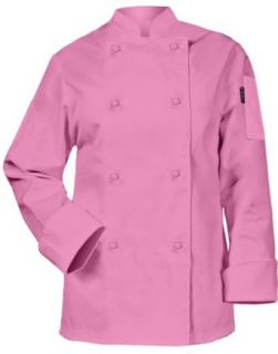 Newchef Fashion Pink Ladies Chef Coat Long Sleeves Chefs Jackets Clothing