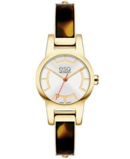 ESQ Movado Watch, Womens Swiss Contempo Two Tone Stainless Steel Bangle Bracelet 30mm 07101392   Watches   Jewelry & Watches