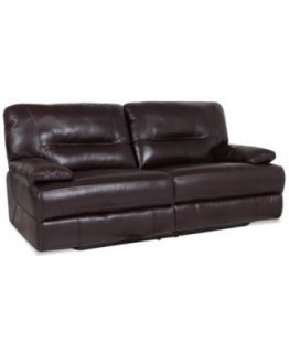 Ricardo Leather Reclining Sofa, Power Recliner 88W x 44D x 38H   Furniture