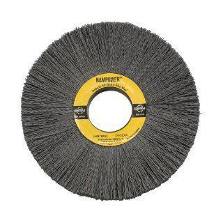 "Brush Research CW612320SC Nampower Composite Hub Abrasive Nylon Wheel Brush, Round Hole, Silicon Carbide Filament, 6"" Diameter, 0.022"" Wire Diameter, 2"" Arbor Hole, 1.5"" Bristle Length, (Pack of 1) Industrial & Scientific"