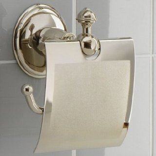 Mico Designs 2585 GG1 CP Polished Chrome G1 Ornate Rosette Bathroom Accessories Open Toilet Paper Holder With Cover