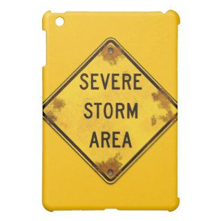 Severe Storm Warning Safety Sign Speck iPad Case