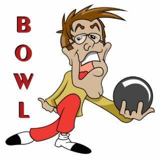 funny bowling man cartoon character acrylic cut out