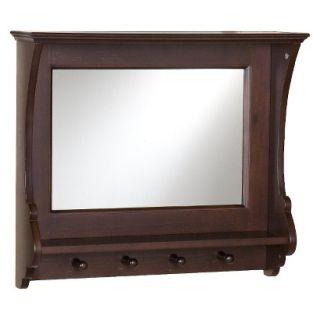 Wall Shelf Wall Mirror   Brown (21)