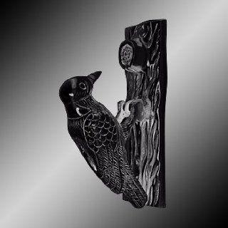 Door Knockers Black Cast Iron, Woodpecker Door Knocker Black Iron 6 1/2H, 2 W  17221