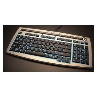 English & Dari Firefly Backlight Illuminated USB Keyboard   Silver / Black: Computers & Accessories