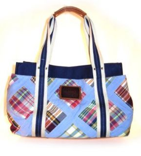 Tommy Hilfiger Med Iconic Tote Satchel Blue Oversized Handbags Clothing
