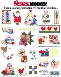 QUILTED CHRISTMAS SCHMITZ Embroidery Designs USB STICK   Home And Garden Products