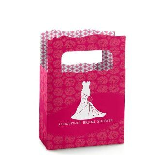 Wedding Dress Pink   Personalized Bridal Shower Mini Favor Boxes: Toys & Games