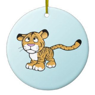 cartoon tiger christmas ornaments