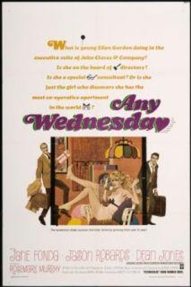 "Any Wednesday 1966 ORIGINAL MOVIE POSTER Comedy   Dimensions: 27"" x 41"": Dean Jones, Jane Fonda, Jason Robards: Entertainment Collectibles"