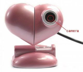 Fast shipping + free tracking number, 2MP Heart Shaped USB PC Webcam Web Camera Computers & Accessories