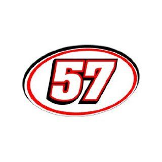 57 Number   Jersey Racing Window Bumper Sticker Automotive