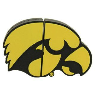 "University of Iowa ""Hawkeye Logo Shape"" USB Drive 8GB: Computers & Accessories"