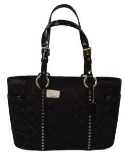 Coach Black Signature SAC Bag Tote Purse Handbag F12853