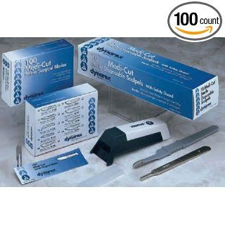 Medi Cut Surgical Blades, Sterile, Stainless Steel, Number 20, 100/bx: Science Lab Scalpels: Industrial & Scientific