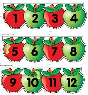 Creative Teaching Press Apples Number Line Mini Bulletin Board Set (0616)  Themed Classroom Displays And Decoration
