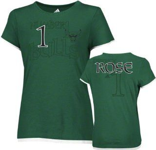 Derrick Rose adidas Women's St. Patrick's Day Name and Number Chicago Bulls T Shirt : Sports Fan T Shirts : Sports & Outdoors