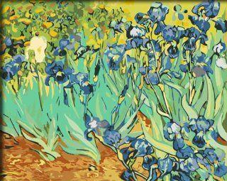"DiyOilPaintings Paint By Numbers Kits, Iris Flower Paint By Number Kits, Origin Paintings By Van Gogh, 16""x20"""