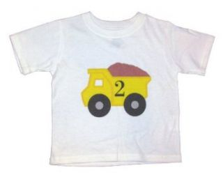Number 2 Dump Truck Second Birthday Toddler Shirt   Size 2T Clothing