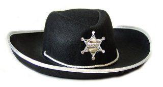 Cowboyhut Kinder Cowboy Sheriff Hut zum Kost�m schwarz: Spielzeug