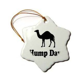 "Shop 3dRose LLC orn_159637_1 Porcelain Snowflake Ornament, 3 Inch, ""Hump Day Camel Wednesday"" at the  Home D�cor Store. Find the latest styles with the lowest prices from 3dRose"