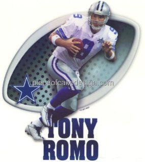 """6"""" Round ~ NFL Dallas Cowboys Tony Romo Birthday ~ Edible Image Cake/Cupcake Topper  Dessert Decorating Cake Toppers  Grocery & Gourmet Food"""