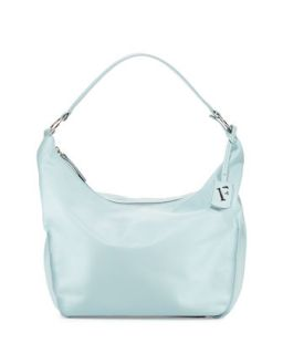 Hope Nappa Leather Hobo Bag, Light Blue (Rugiada)