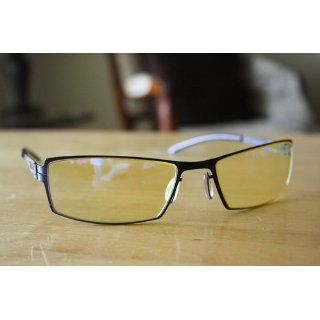 Gunnar Optiks G0005 C001 SheaDog Full Rim Ergonomic Advanced Computer Glasses with Amber Lens Tint, Onyx Frame Finish Electronics