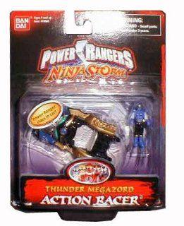 """Power Rangers Ninja Storm Thunder Megazord 3"""" Action Racer: Toys & Games"""