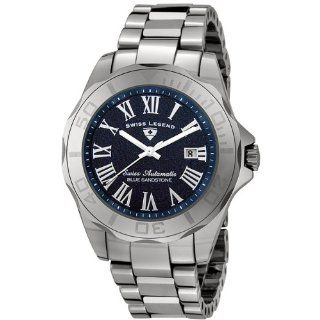 Swiss Legend Men's 18010A 33 Tungsten Collection Automatic Blue Sand Stone Dial Watch Swiss Legend Watches