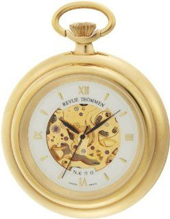 Revue Thommen Men's 12002.3112 Pocket Watch Hand Winding Movement White Dial Watch: Watches