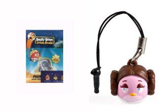 Angry Birds Star Wars PRINCESS LEIA Phone Dangler, 2 Stickers & Collector Sheet: Toys & Games