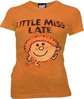 Little Miss Late Orange Juniors T shirt Tee Clothing